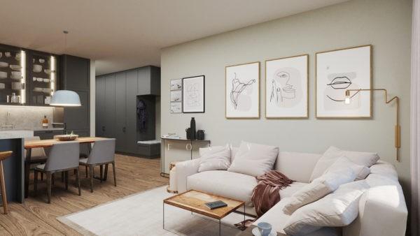 Rystukalny apartament w Warszawie